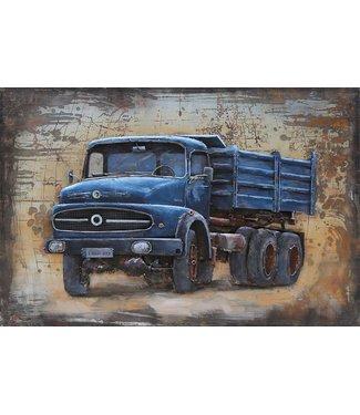 3D Art Mercedes Truck oldtimer - Metalen 3D schilderij