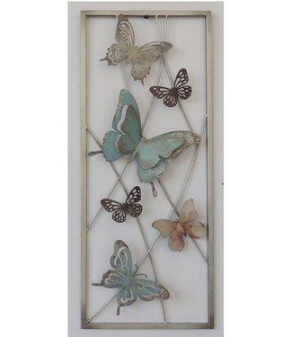 Wand decoratie Metalen 3D wanddecoratie - Vlinders