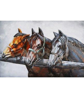 3D Art Three Horses - Drie paarden