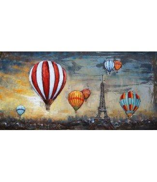 3D Art Ballonvaren boven Parijs