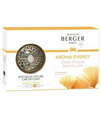 Maison Berger Maison Berger  Auto Parfum  Aroma Energie - Zestes Toniques - Sparkling Zeist