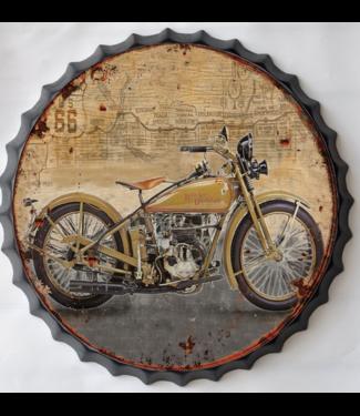 Wand decoratie Metalen 3D wanddecoratie - Harley Davidson