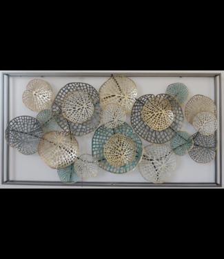 Wand decoratie Metalen 3D wanddecoratie - Abstract artwork
