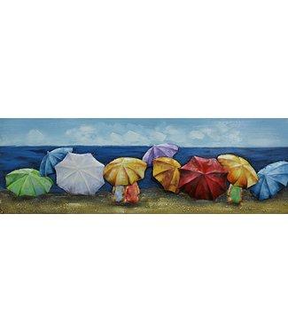 3D Art Parasols op het strand