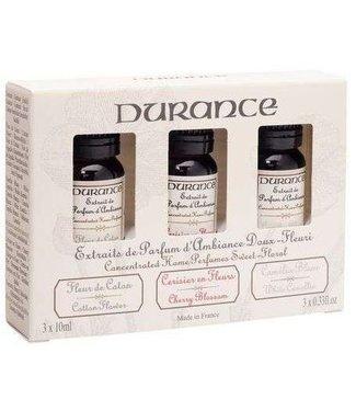 Durance Geschenkverpakking met 3 etherische oliën Bloemen geuren