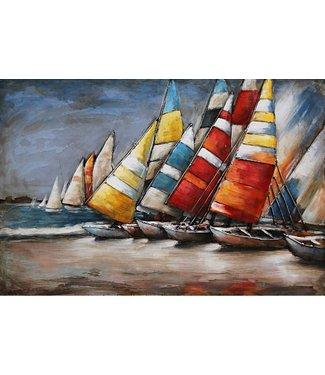 3D Art Holland Sail - Metalen 3D schilderij