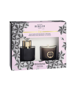 Maison Berger Gift set - Black Chrystal geurstokjes en geurkaars