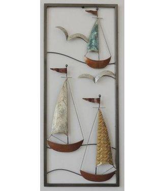 Home Zeilbootjes - Metalen wanddecoratie