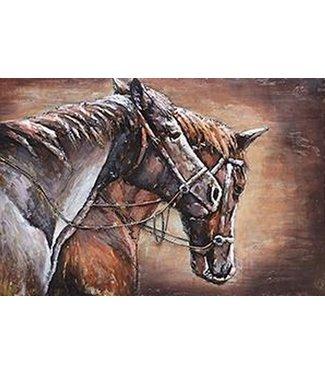 Home Paarden - Metalen 3D schilderij