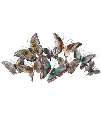 Wand decoratie Metalen 3D wanddecoratie Butterflies