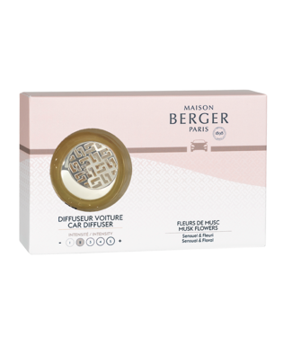 Maison Berger Lampe Berger - Car diffuser start pakket Fleurs de Musc