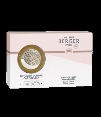 Maison Berger Maison Berger autoparfum set - Fleurs de Musc