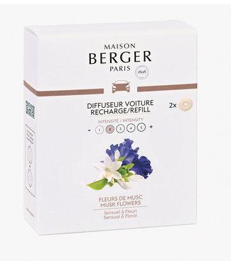 Maison Berger Maison Berger - Auto parfum - Navulling Musk Flowers