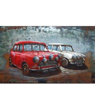 Home Mini Cooper Old Timers - rood en wit