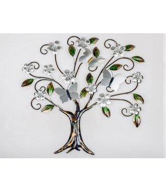 Home Metalen wanddecoratie - Butterfly Tree