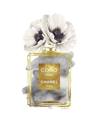 Ter Halle Coco Chanel - Glas schilderij