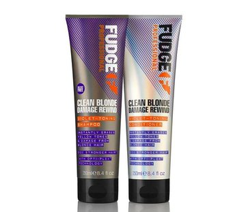 Fudge Clean Blonde Damage Rewind Violet Duo Pack