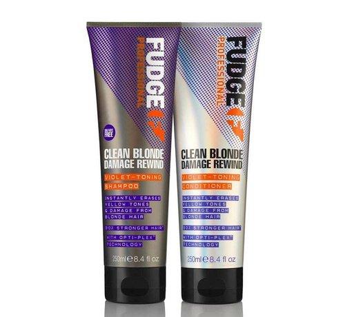 Fudge Clean Blonde Violet Duo Pack - 2X300ml