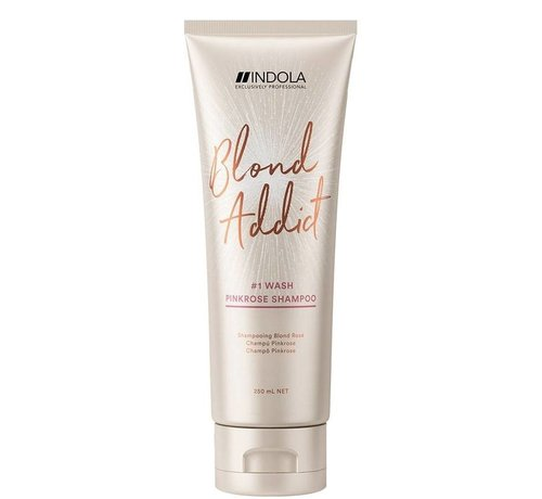 Indola Innova Blond Addict Pink Rose Shampoo #1 Wash - 250ml