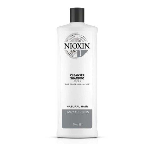 Nioxin System 1 - Shampoo / Reiniger - 1000ml