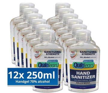 Quiclean Desinfektionsmittel Handgel 12X