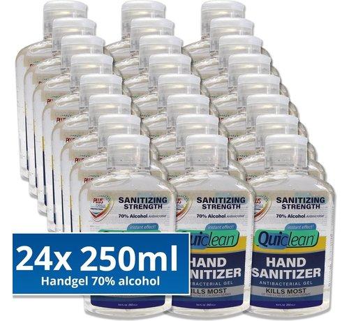 Quiclean Desinfektionsmittel Handgel 70% Alkohol - 24X250ml