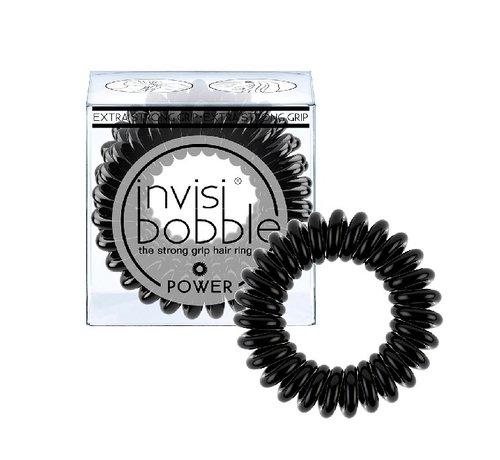Invisibobble Traceless Hair Ring True Black - Power - 1x3st.
