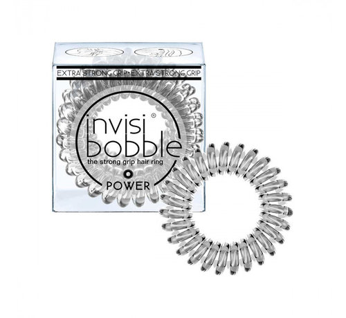 Invisibobble Traceless Hair Ring Crystal Clear - Power - 1x3st.