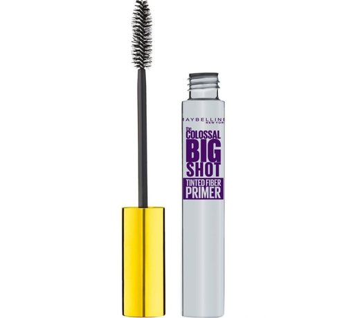 Maybelline The Colossal Big Shot Fiber Tinted Primer Mascara - Black - 8ml