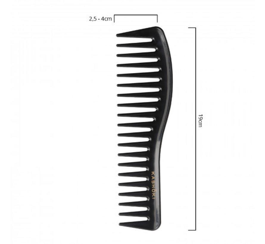Wide Tooth Detangling Comb Sachiko - Wavy