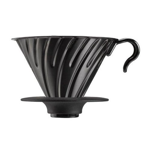 Hario Hario V60-02 Metal dripper with silicone base - Matte Black - VDM-02-MB
