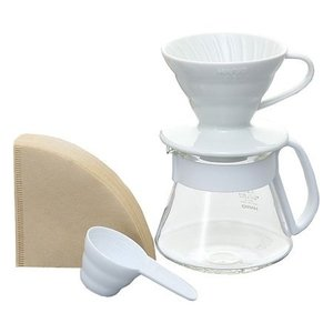 Hario Hario V60 Pour over ceramic giftset White