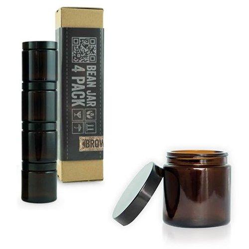 Comandante Comandante Bean Jar - Brown Glass - 4 Pack