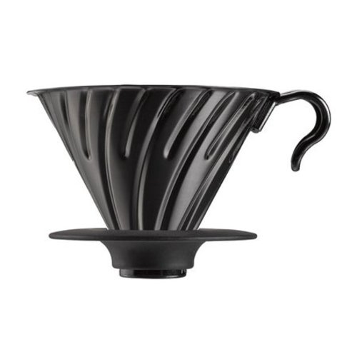 Hario Hario V60 Metal dripper 02 with silicone base - Black VDM-02-BC