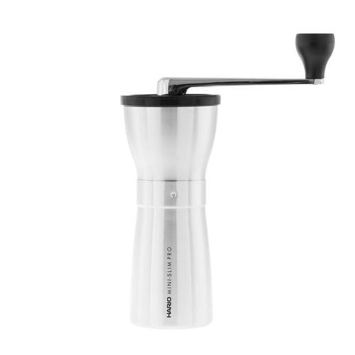 Hario Hario Ceramic Coffee Mill Mini-Slim PRO Silver - MMSP-1-HSV