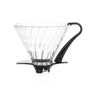 Hario Hario V60 Glazen Dripper 03 zwart - VDG-03B