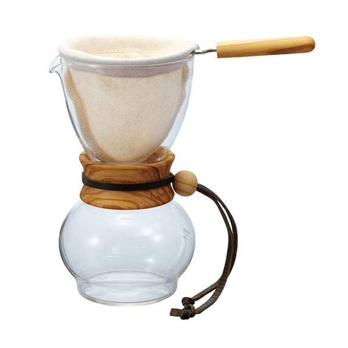 Hario Hario drip pot woodneck-olive wood- DPW-1 ow