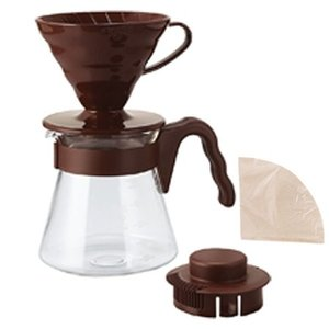 Hario Hario V60 Brown Pour Over Kit - dripper + server + filters - VCSD-02CR