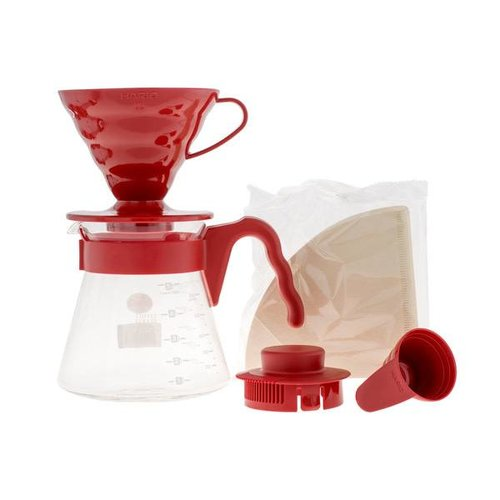 Hario Hario V60 Pour Over Kit Red - dripper + server + filters