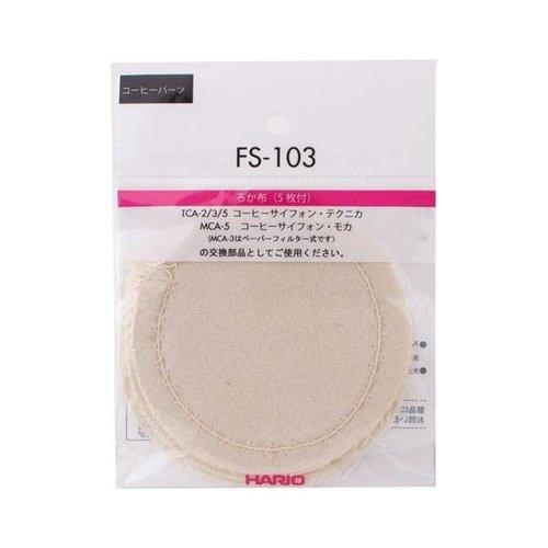 Hario Hario Syphon - stoffen filters - FS-103