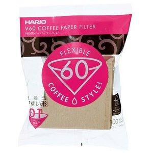 Hario Hario Misarashi brown paper filters - V60-01 - 100 pieces - VCF-01-100M