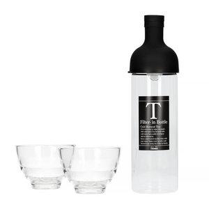 Hario Hario Filter in Bottle & tea glass set black - fihu-2012-ex-b