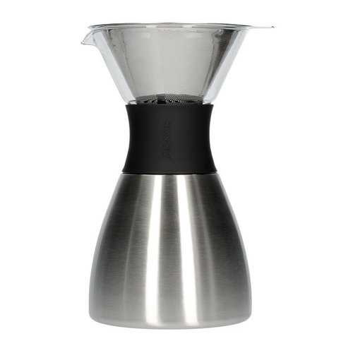 Asobu Asobu - pourover insulated coffee maker - silver / black