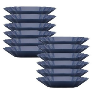 Rhinowares Rhinowares coffee gear blue oval cupping Trays - Pack of 12