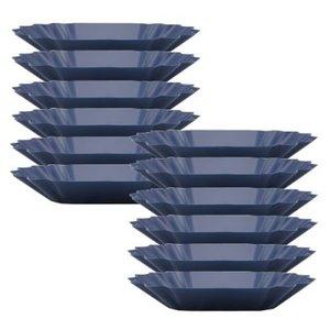 Rhinowares Rhinowares coffee gear blue oval cupping Trays - Pack of 12