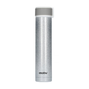 Asobu Asobu - Skinny Mini Silver Glitter - 230 ml Travel Bottle