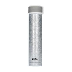 Asobu Asobu - Skinny Mini ZilverGlitter - 230 ml Reisfles