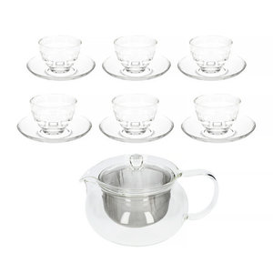 Hario Hario Cha-Cha 700 ml Tea Pot + Yunomi Tea Glass Set
