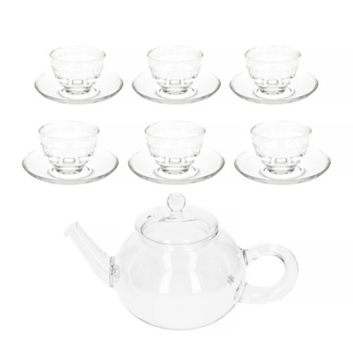 Hario Hario Donau 800 ml Tea Pot + Yunomi Tea Glass Set