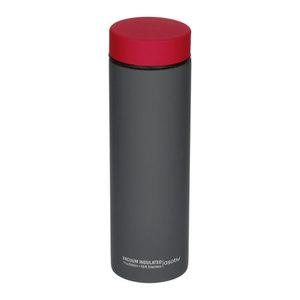 Asobu Asobu - Le Baton Grijs / rood - 500ml reisfles